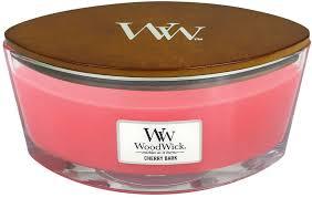 BOugie en verre woodwick avec meche en bois qui crepite