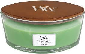 Bougie woodwick en verre forme ellipse avec meche en bois quicrepite
