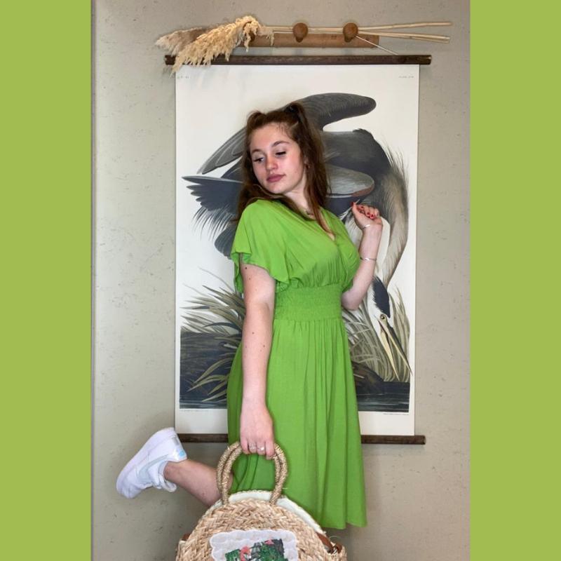 robe d été verte courte